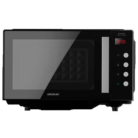 GrandHeat 2000 Flatbed Black - Microondas sin plato 20L