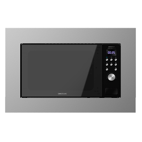 GrandHeat 2000 Built-in SteelBlack - Microondas encastrable 20 litros