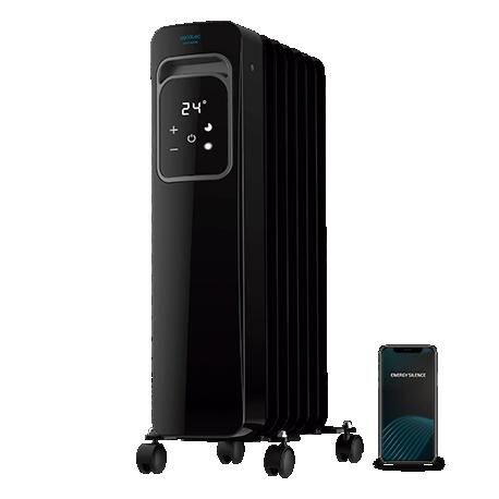 ReadyWarm 7000 Touch Connected Black - Radiador de aceite de 7 elementos