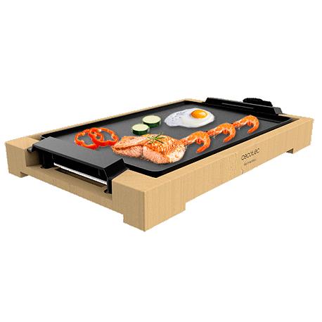 Tasty&Grill 2000 Bamboo - Plancha eléctrica cocina 2000 w