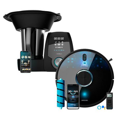 Pack Conga 7090 IA + Mambo 10070 - Pack Robot aspirador + Robot de cocina