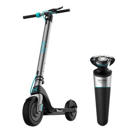 Bongo Serie A +Bamba PrecisionCare TwistGroom - Pack Patinete eléctrico + Máquina de afeitar