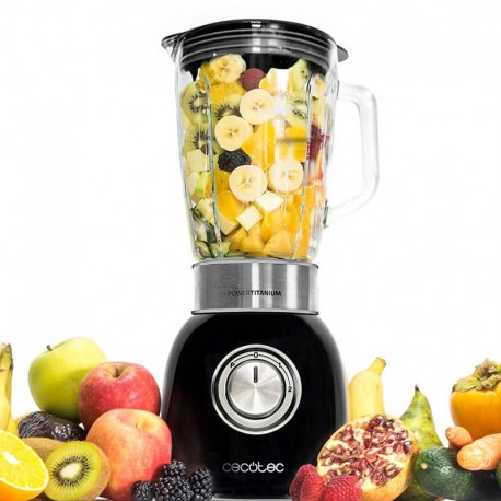 Power Titanium 1000 W Black - Blender 1000 W