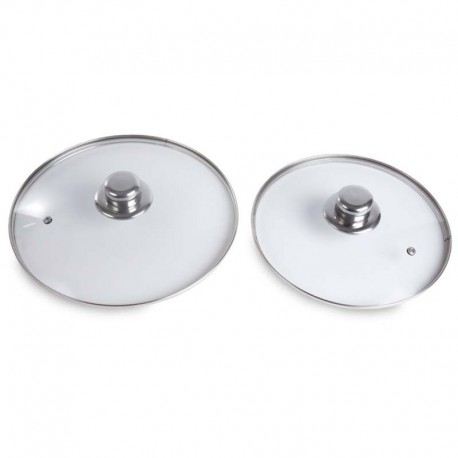 2 glass-lids set -
