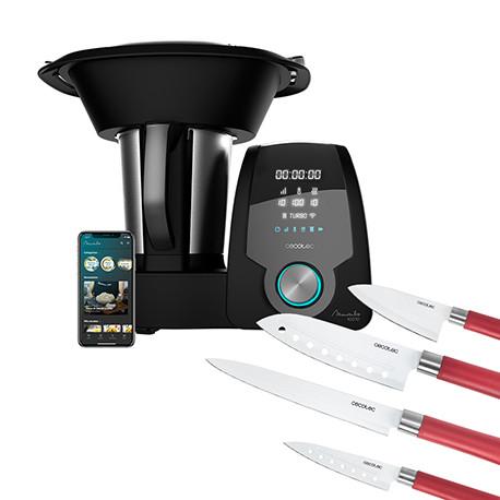 Pack Mambo 10070 + Set 4 cuchillos Santoku con recubrimiento cerámico - Pack robot de cocina + Set de cuchillos