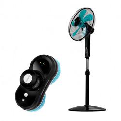 Conga WinDroid 870 Connected + Ventilador de pie EnergySilence 530 Power Connected Black