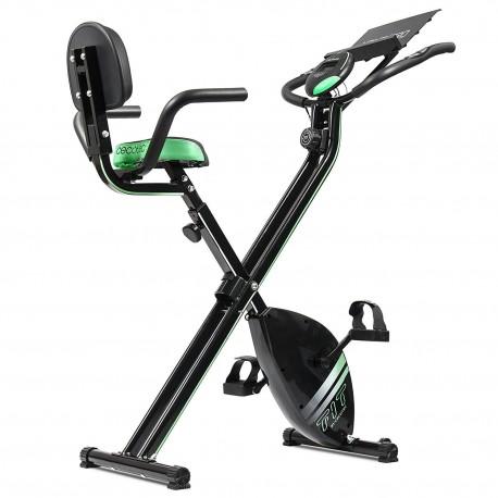 X-Bike Pro - Cyclette statica pieghevole con schienale