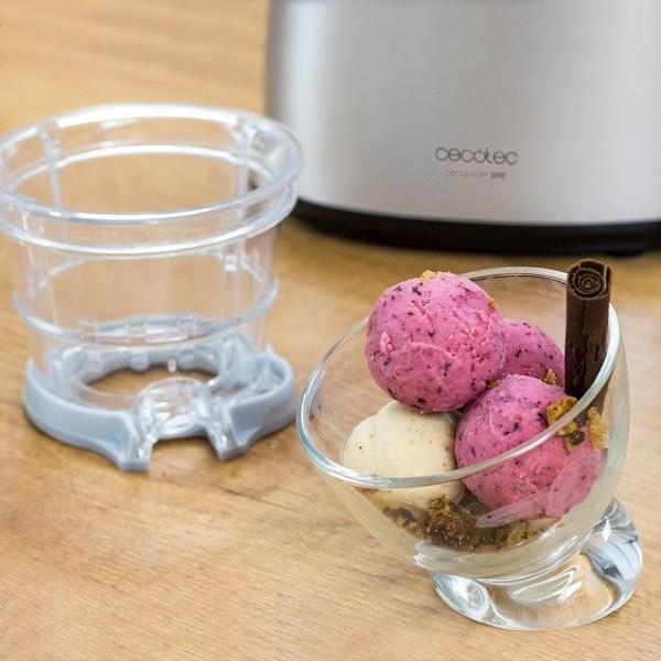 Cecojuicer Pro + Filtro para helados. Licuadora para frutas y verduras de prensado en frío, extractor de jugo con canal XL para fruta entera.