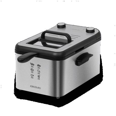 CleanFry Infinity 3000 Full Inox - Friggitrice elettrica da 3 litri