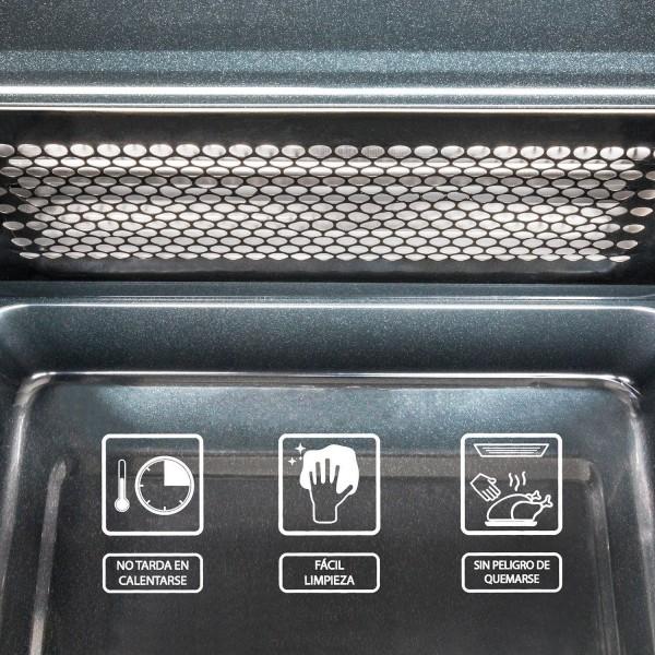 Cecotec Steel Grill. Microondas digital de acero con grill, input 1200W output 700W, grill de 900W, programable.