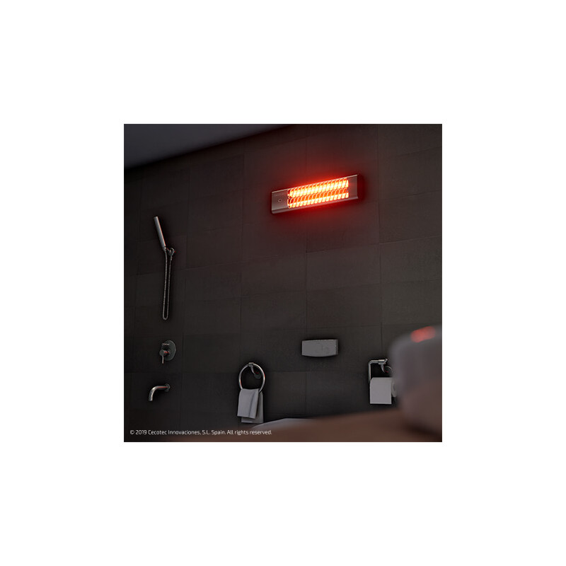 Radiador de cuarzo pared Ready Warm 7000 Quartz Bath Cecotec