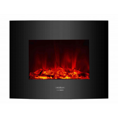 Ready Warm 2600 Curved Flames - Chimenea eléctrica decorativa