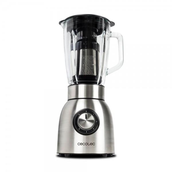 Power Titanium 1250 W. Batidora americana de vaso de 1250W con filtro para licuados, acero inoxidable, cristal fundido termorresistente y cuchillas de titanio.