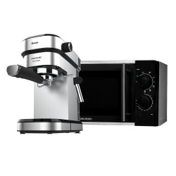Microondas Silver + Cafetera espresso Cafelizzia 790 Steel