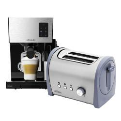 Cafetera semi-automática Power Instant-ccino 20 + Tostador Steel&Taste Inox 2S
