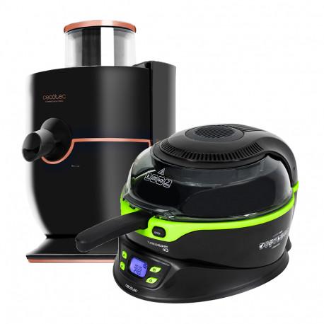 TurboCecofry 4D con accesorios + Extreme titanium 19000 - Freidora sin aceite y Licuadora