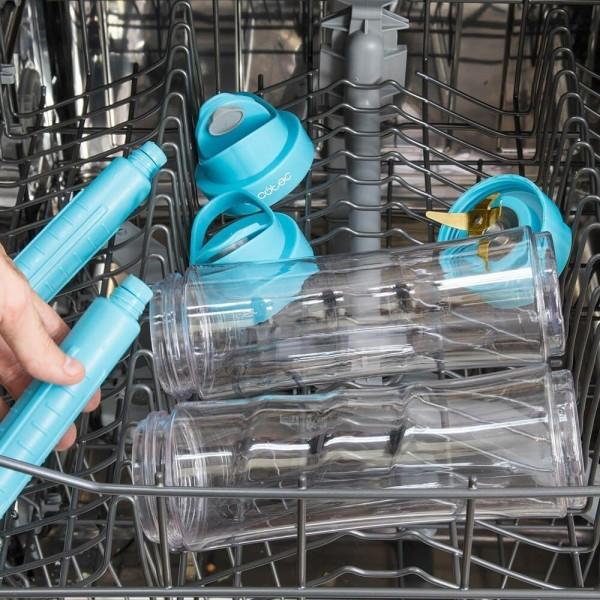 Power Titanium One. Smoothie maker, batidora de vaso individual portátil con cuchillas de titanio y 350 W. Dos vasos de 600 ml libre de BPA y dos tubos refrigeradores. Pica hielo.
