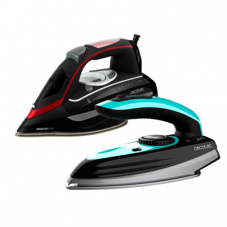 3D ForceAnodized 950 Smart i-Pump + GoForce 8000 Folding Titanium - Plancha de viaje y Plancha vapor