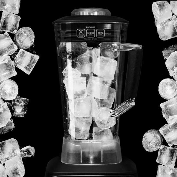 Power Titanium Premium. Batidora de vaso profesional de alto rendimiento. 2200 W y 32000 rpm. Cuchilla de 6 hojas de Titanio. Jarra de Tritan, BPA Free, de 2,8 litros con cuchillas desmontables, apto para lavavajillas.