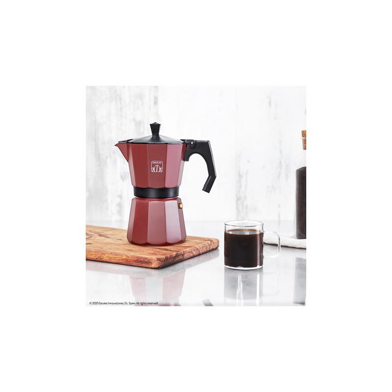 Cecotec cafetera italiana Mimoka 900 Black fabricada en aluminio fundido de alta calidad para hacer caf/é con el mejor cuerpo y aroma Ideal para 9 tazas de caf/é.